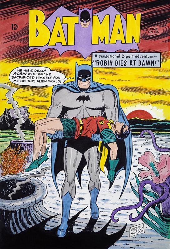 Batman #156 cover recreation commission done by Sheldon Moldoff.