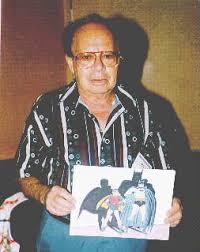 Sheldon Moldoff with Batman & Robin art.