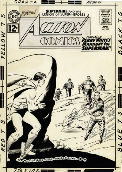 Action Comics #287 original cover art by Curt Swan & Shelly Moldoff