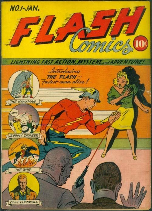 Flash Comics #1. Cover pencils by Sheldon Moldoff.