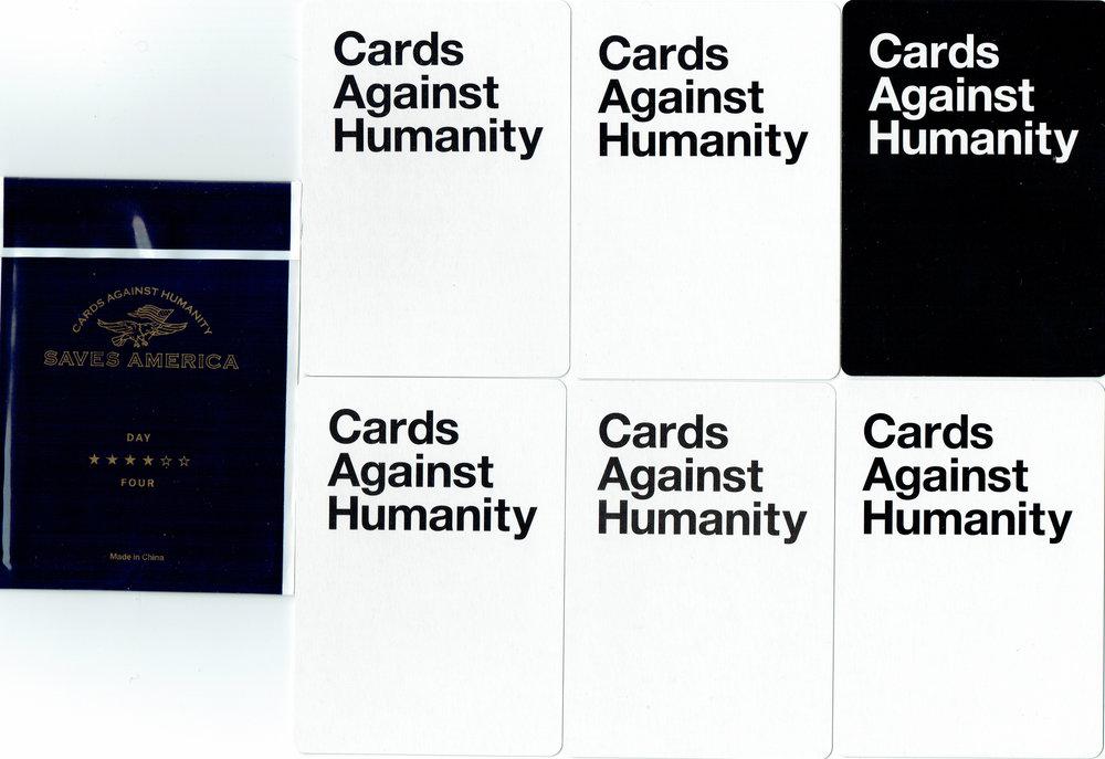 Cards Against Humanity Destroys Homework card pack (back)