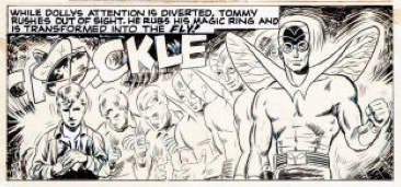 A panel from The Adventures of the Fly (1959) #4 - Adams' first commercial work.