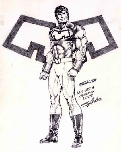 A Megalith sketch done by Neal Adams.