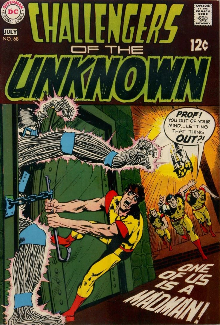 Challengers of the Unknown (1958) #68. Cover by Neal Adams.
