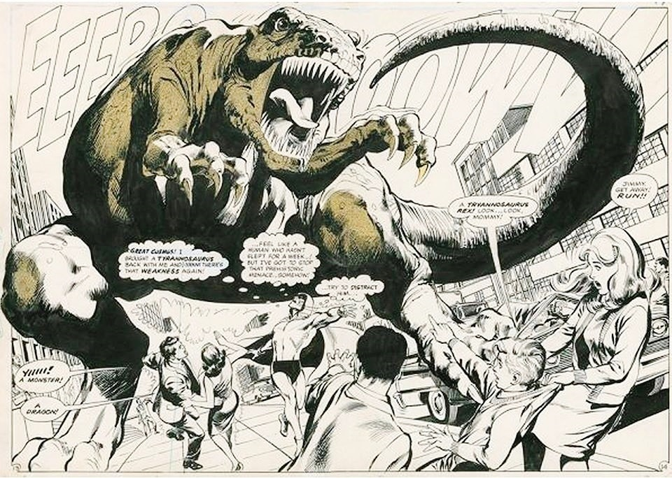A panel from The Spectre. Art by Neal Adams.