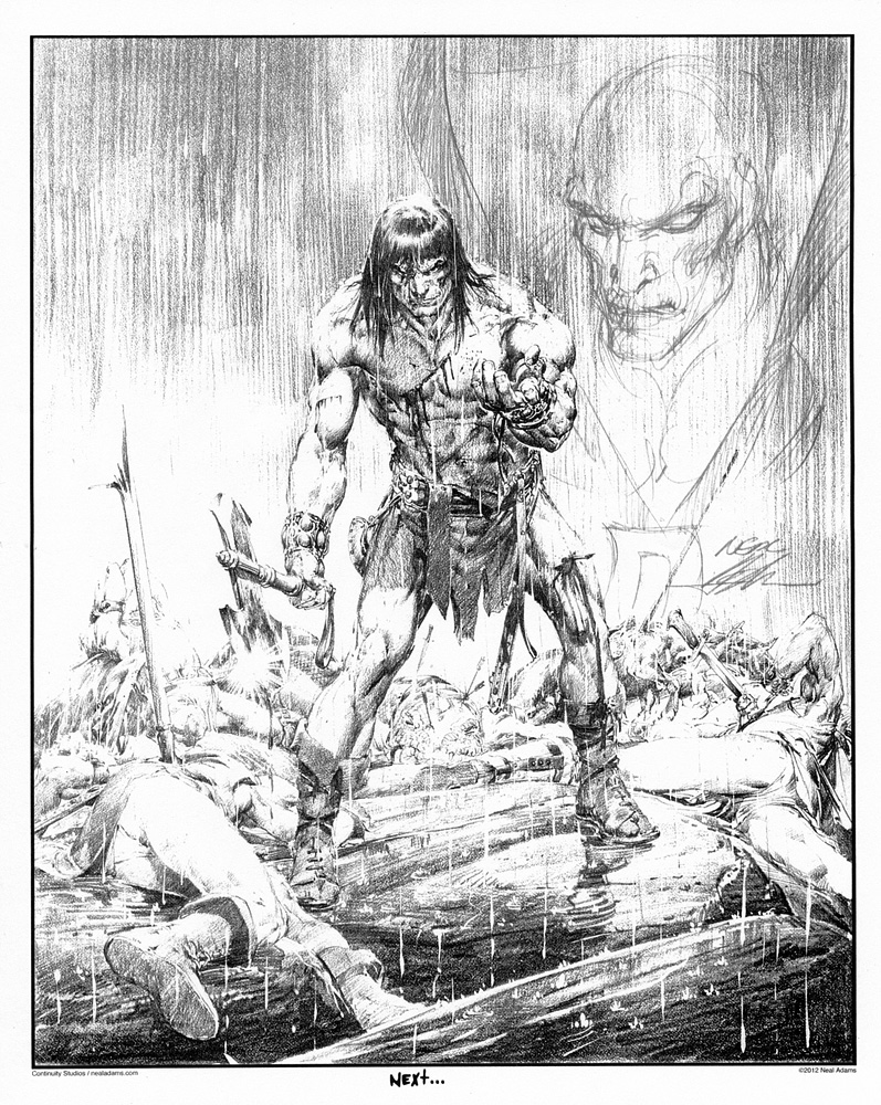 A  Conan  print with a  Deadman  Sketch on it by Neal Adams.