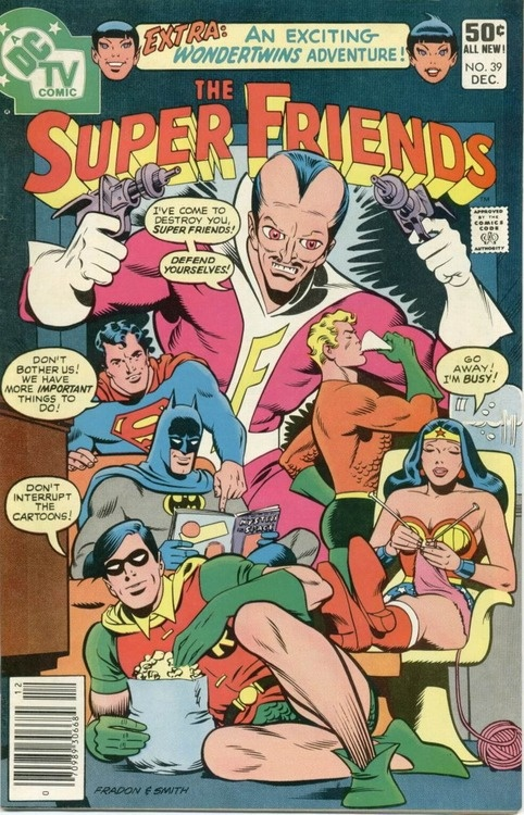 The Super Friends #39. Cover by Ramona Fradon.