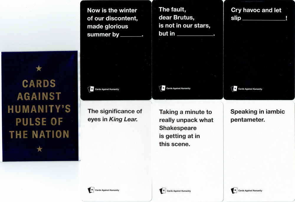 Pulse Of The Nation CAH Card pack (fronts