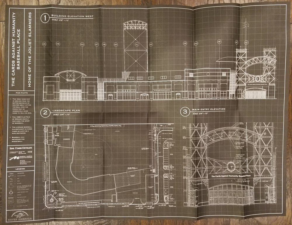 The blueprints for the field.