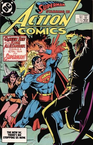 Action Comics #562, written by Bob Rozakis.
