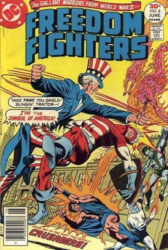 Freedom Fighters #8, written by Bob Rozakis.