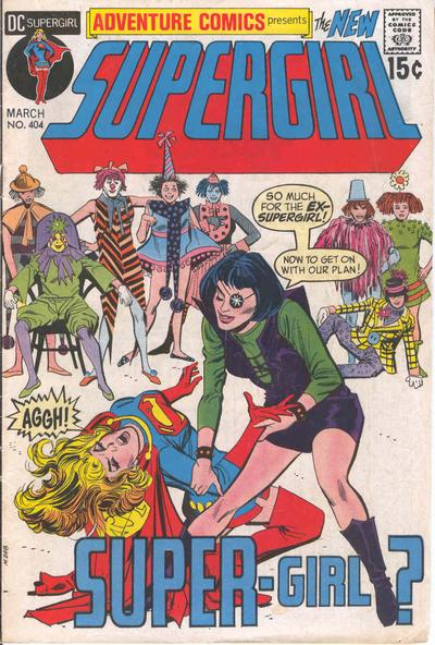 Adventure Comics #404, cover by Mike Sekowsky and Dick Giordano.