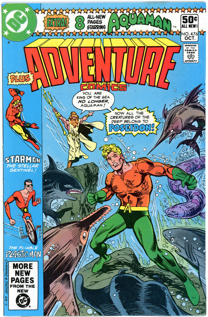 Adventure Comics #476, cover by Ross Andru & Dick Giordano.