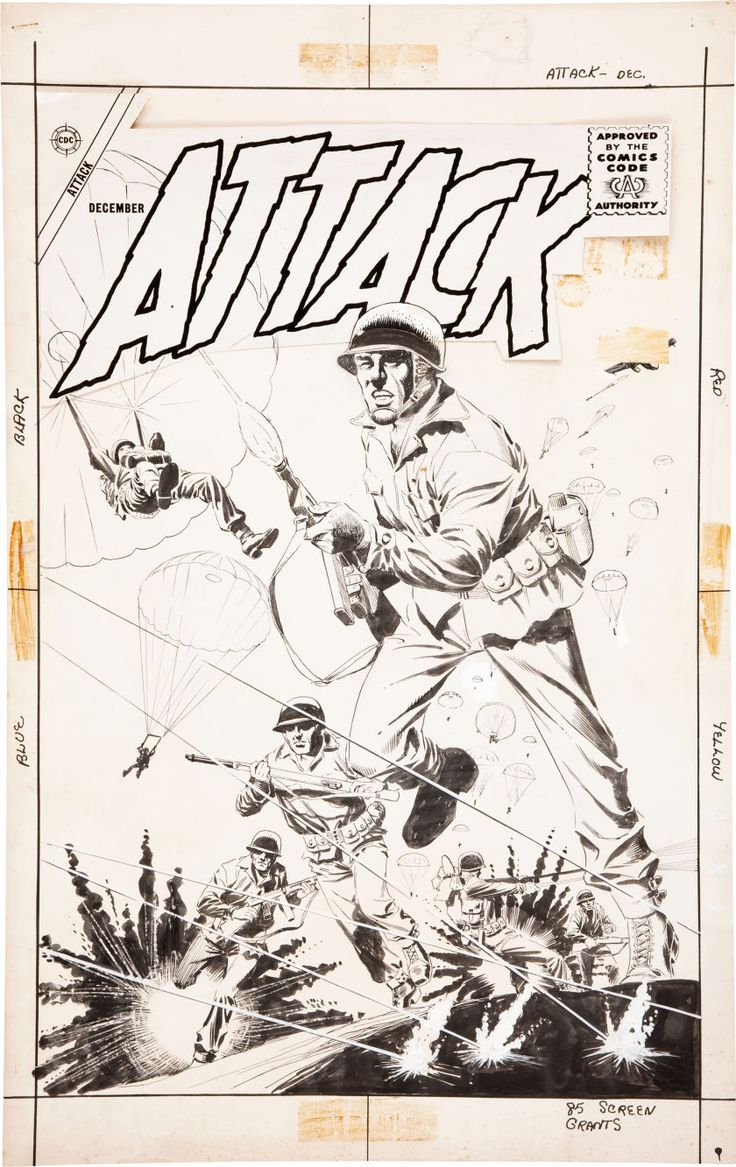 Attack #55 original cover art by Dick Giordano.