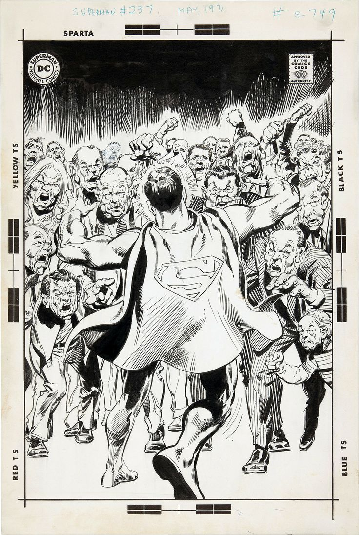 Superman #237 original cover art by Neal Adams & Dick Giordano.