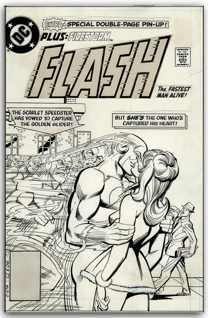 Flash #302 original cover art by Carmine Infantino & Dick Giordano.