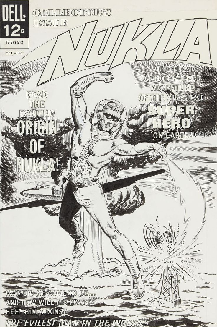 Nukla (1965) #1 original cover art by Dick Giordano & Sal Trapani.