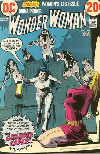 Wonder Woman (1942) #203, cover by Dick Giordano.