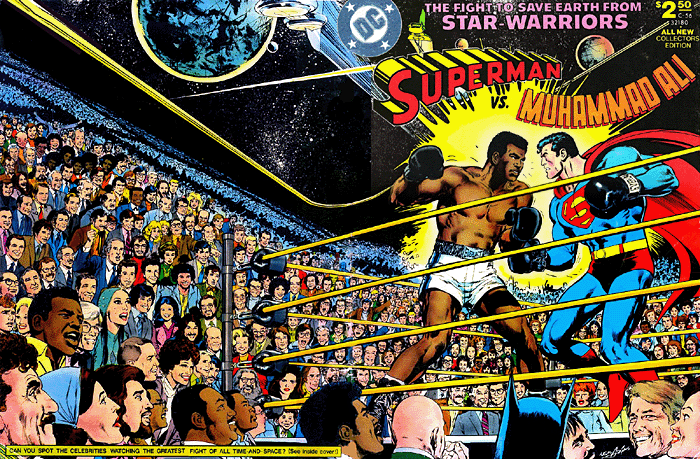 ALL NEW COLLECTORS EDITION (1978) #C56, written by Denny O'Neil. SUPERMAN VS. MUHAMMAD ALI COVER BY NEAL ADAMS.