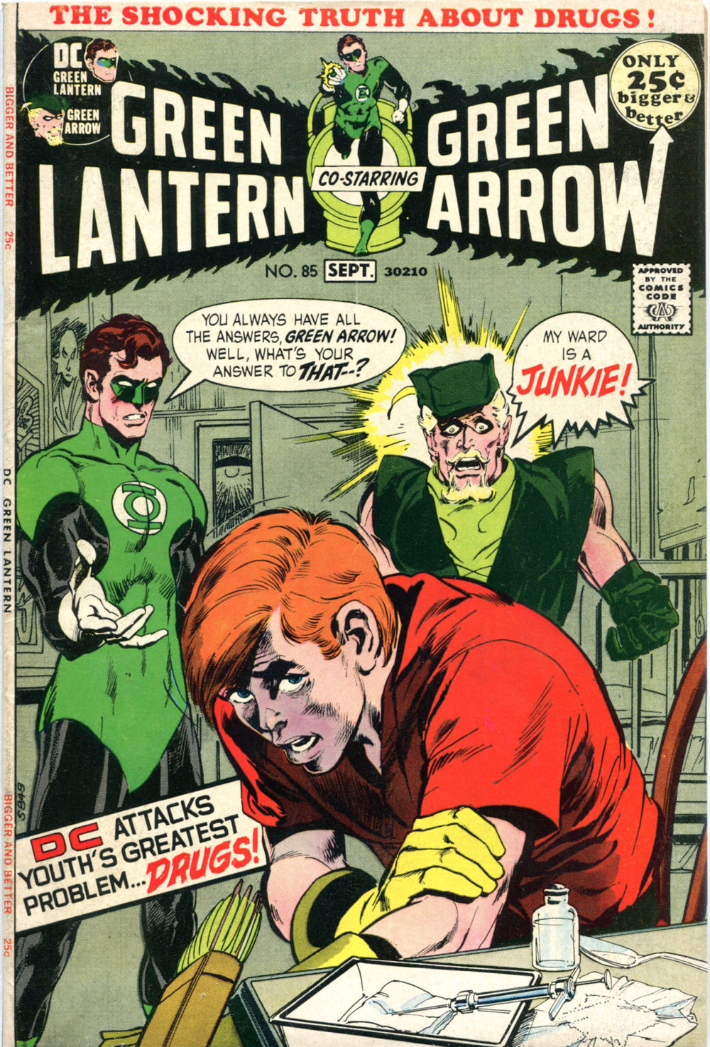 Green Lantern (1960) #85, written by Denny O'Neil.