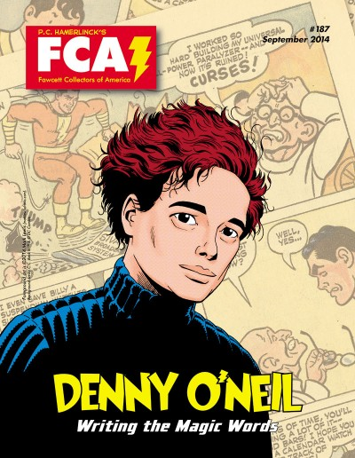Fawcett Collectors of America #187, featuring Denny O'Neil (as drawn by Mark Lewis.