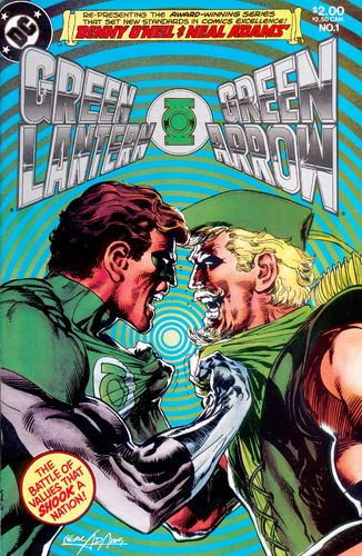 Green Lantern/Green Arrow (1983) #1, written by Denny O'Neil.