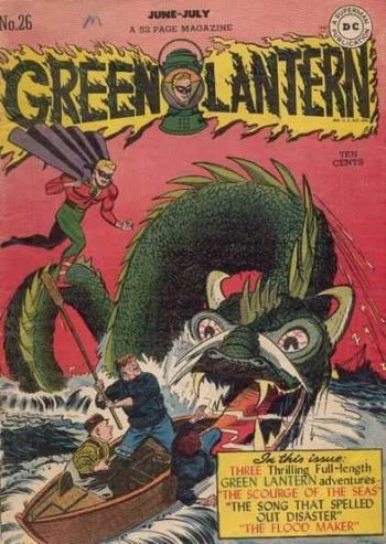 Green Lantern (1941) #26, cover by Irwin Hasen.