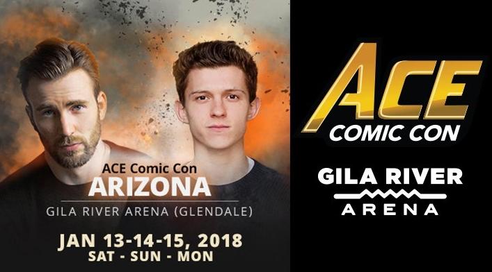 A banner ad for Ace Comic Con Arizona.