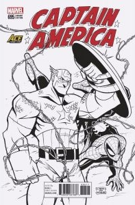 Captain America #695 B&W Ace Comic Con Arizona Exclusive, cover by Billy Martin.