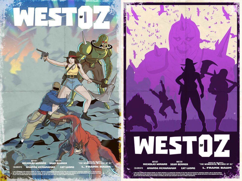 West of Oz posters - art by  Nicholas Winand