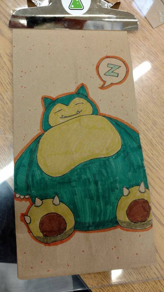 Snorlax by  Matt Barclay .
