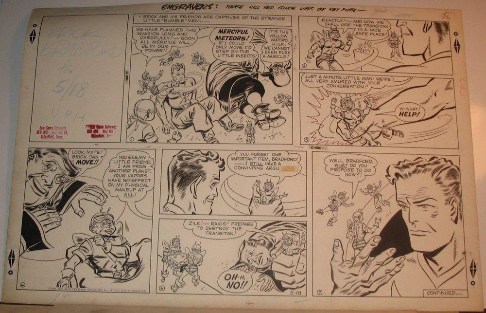 The Brick Bradford comic strip from 5-18-1952, art by Lew Sayre Schwartz.