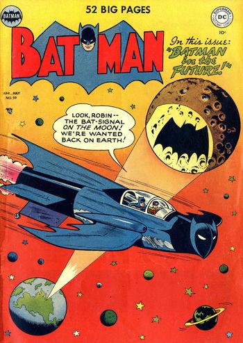 Batman (1940) #59, cover by Lew Sayre Schwartz.