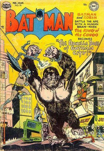 Batman (1940) #75, cover by Lew Sayre Schwartz.