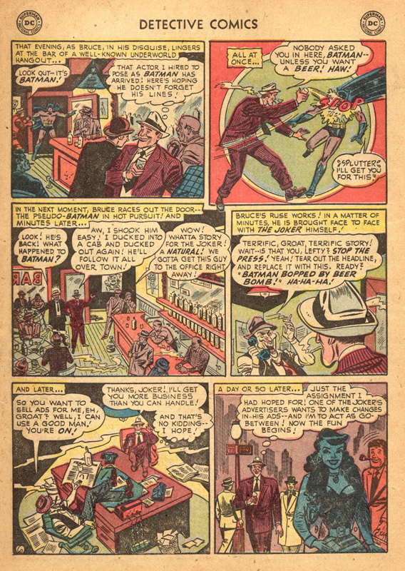 Detective Comics (1937) #193 interior 1, art by Lew Sayre Schwartz.