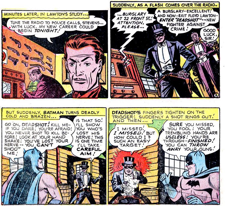 Batman (1940) #59 interior, art by Lew Sayre Schwartz.