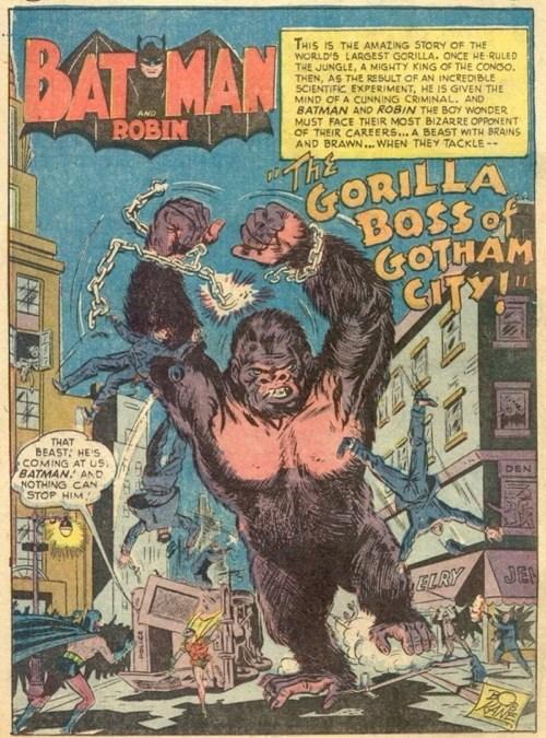 Batman (1940) #75 interior, cover by Lew Sayre Schwartz.