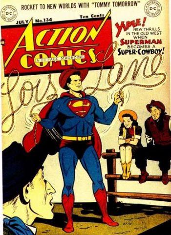 Action Comics (1938) #134, cover by Al Plastino.