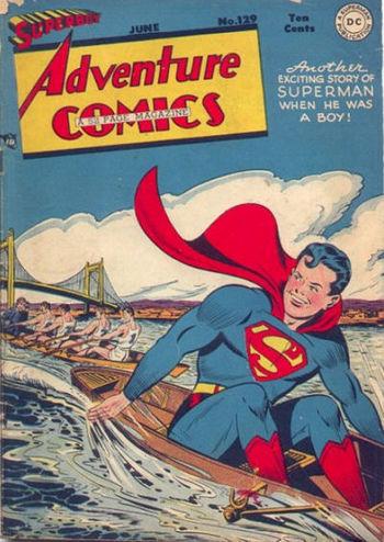 Adventure Comics (1938) #129, cover by Al Plastino.