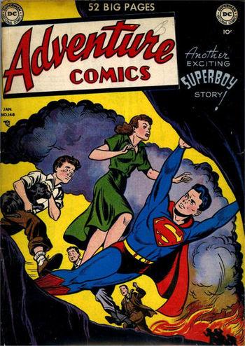 Adventure Comics (1938) #148, cover by Al Plastino.