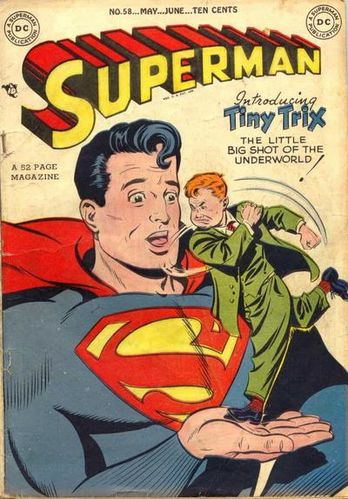 Superman (1939) #58, cover by Al Plastino.