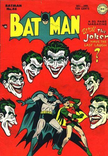 Batman (1940) #44, cover by Jim Mooney.