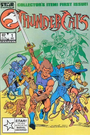 ThunderCats (1985) #1, cover by Jim Mooney.