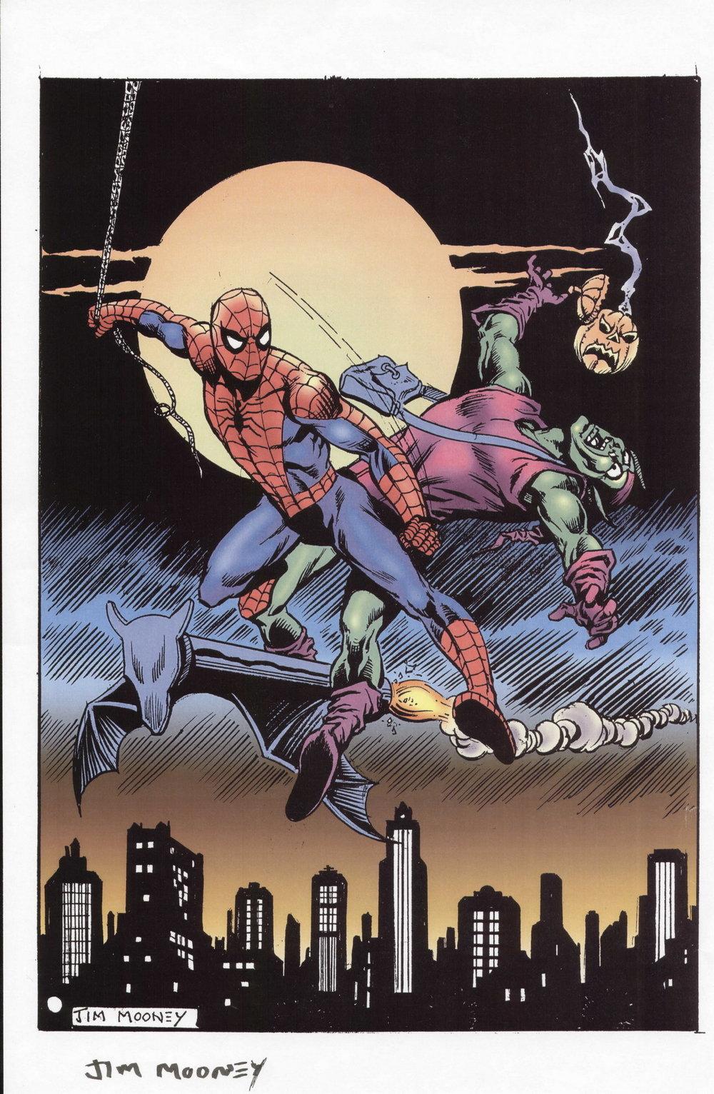 Spider-Man vs. Green Goblin by Jim Mooney.