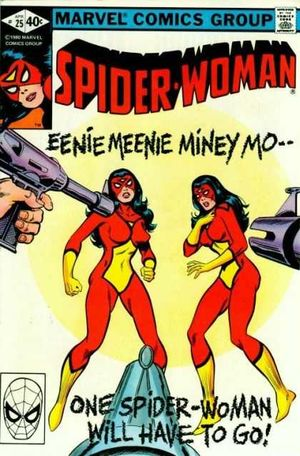 Spider-Woman (1978) #25, cover by Jim Mooney.