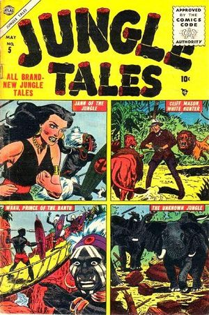 Jungle Tales (1954) #5, cover by Russ Heath.