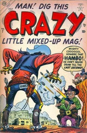 Crazy (1953) #7, cover by Russ Heath.