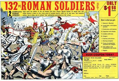 Roman Soldiers Ad, drawn by Russ Heath.