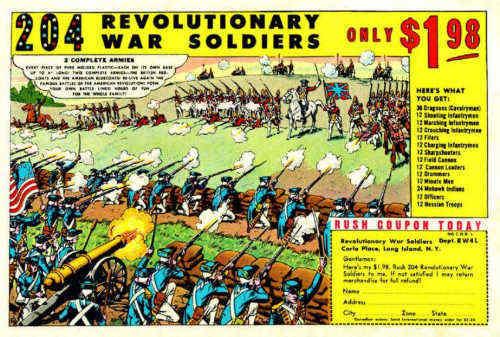 Revolutionary War Soldiers Ad, drawn by Russ Heath.