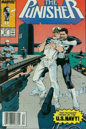 The Punisher (1987) #27, cover by Russ Heath.